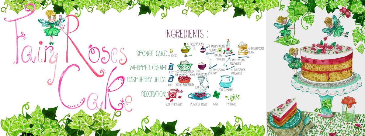 Fairy roses cake1