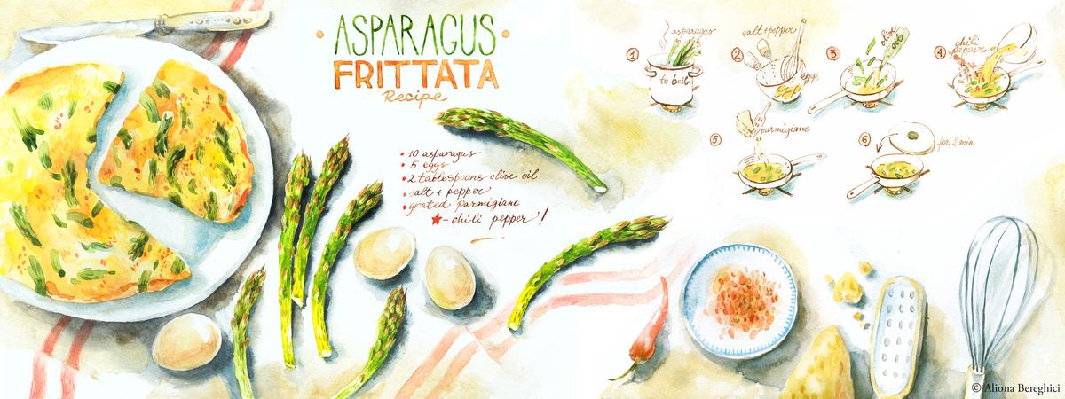 Frittata asparagus