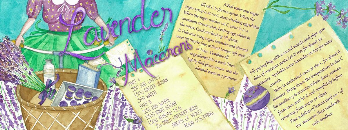 Lavender macarons4