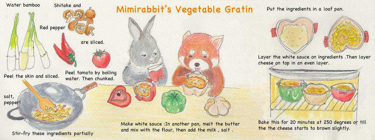 Mimirabbit s vegetable gratin
