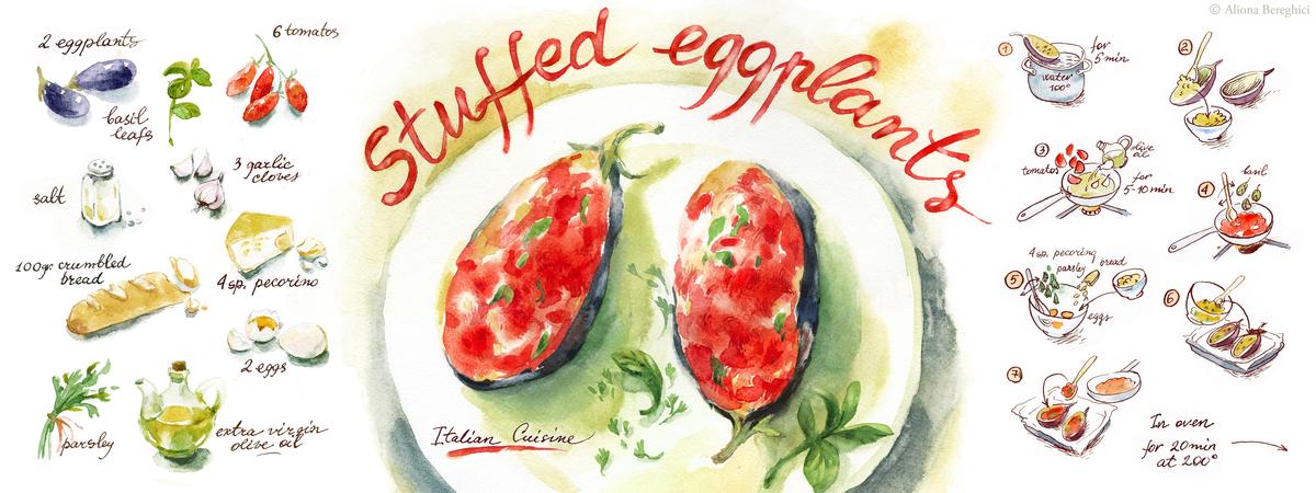 Stuffed eggplants