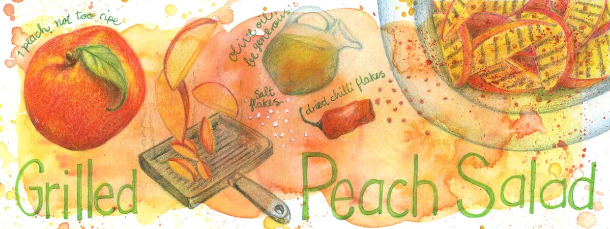 20130809 peachsalad
