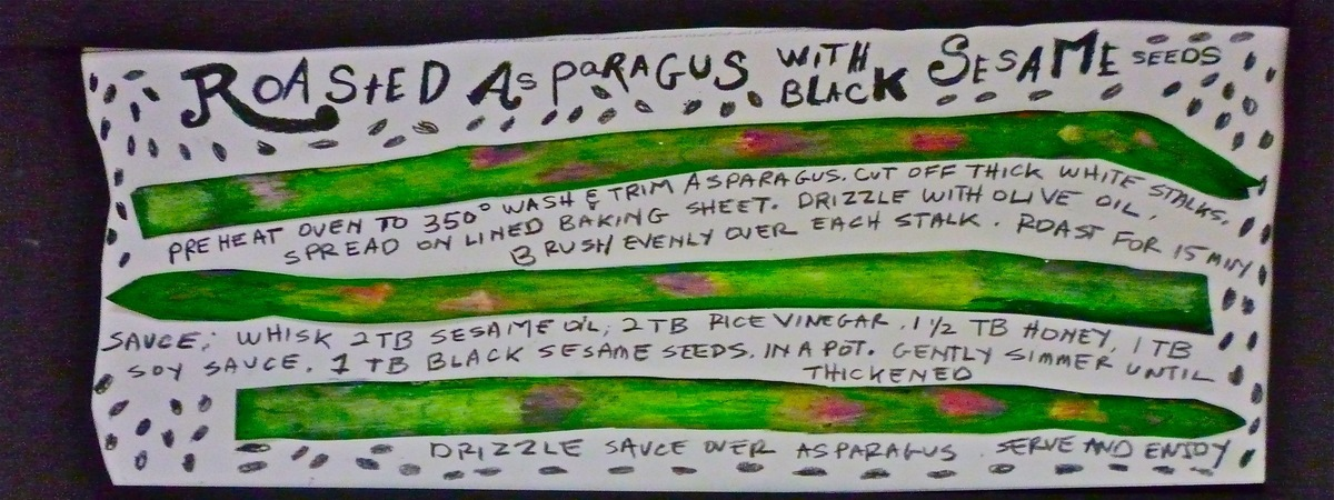 Roasted asparagus with sesame