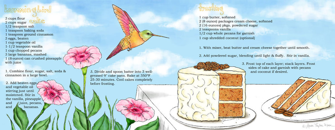 Hummingbird cake by laura taylor mark
