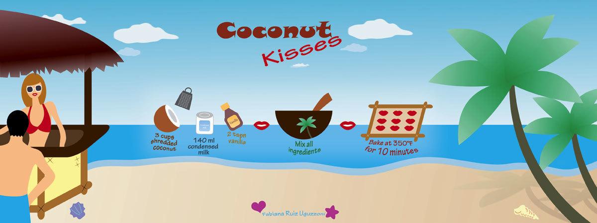 Coconut kisses by fabiana ruiz uguzzoni