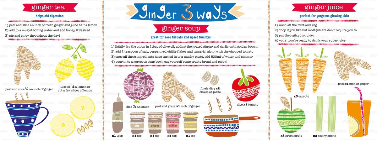 Ginger 3 ways