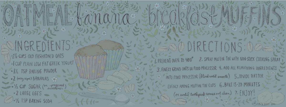 Oatmeal banana breakfast muffins  tdac