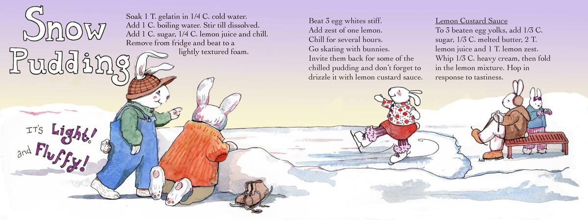 Snow pudding finish
