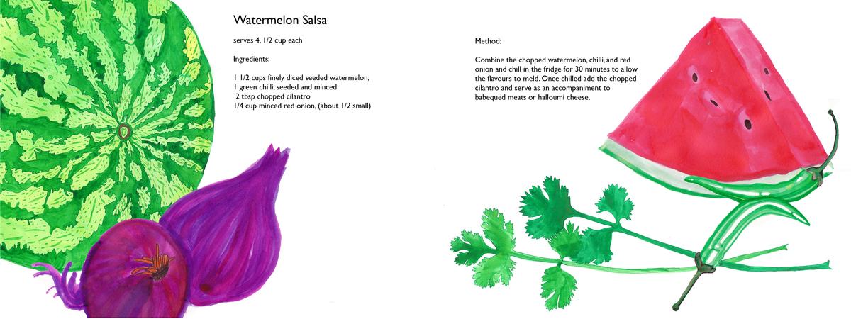 Rosa doyle watermelon salsa