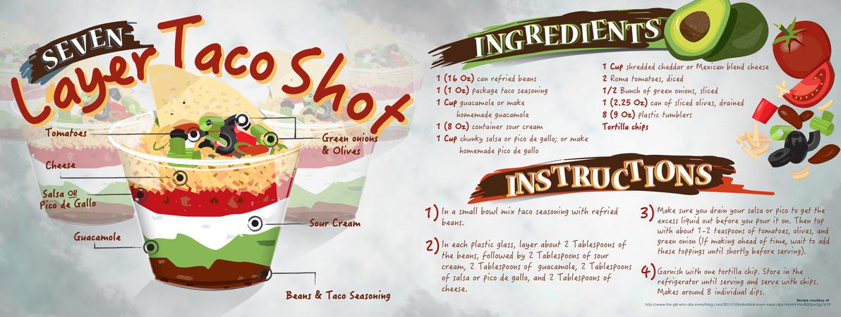 Taco dip shots