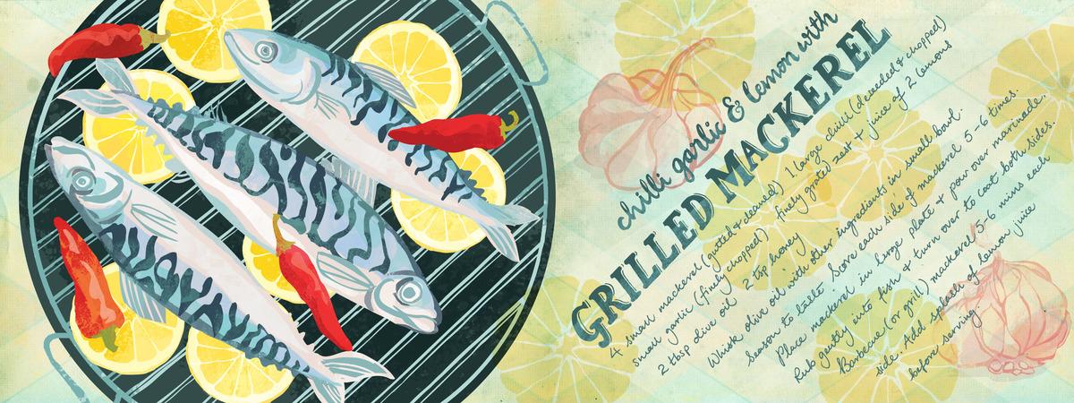 Grilled mackerel ohnmarwin