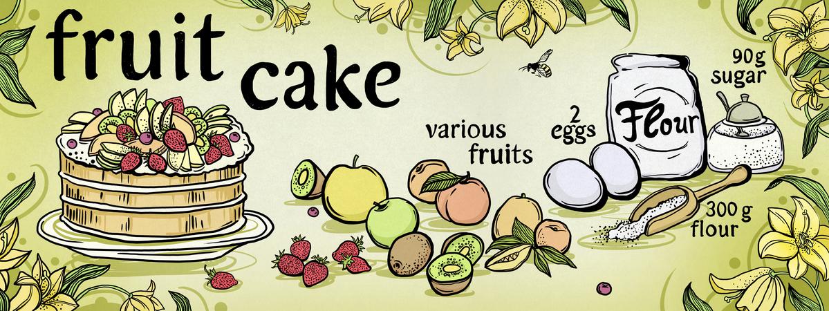 Gyshina fruitcake 300