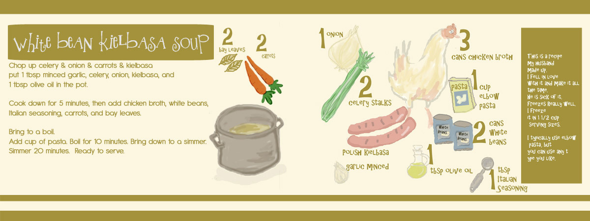 White bean kielbasa soup by gina cunningham