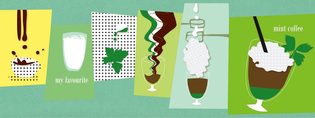 Mint coffee by karolina dziewa