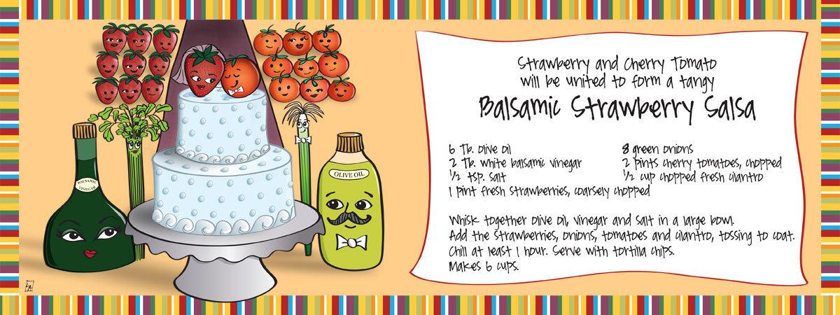 Balsamic strawberry salsa by lynn alpert