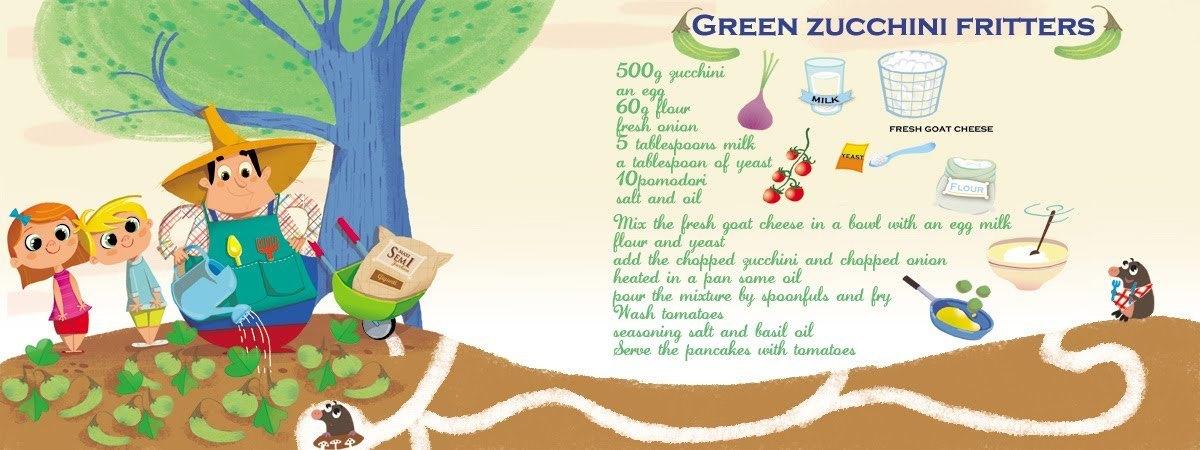 Green zucchini fritters by chiara nocentini