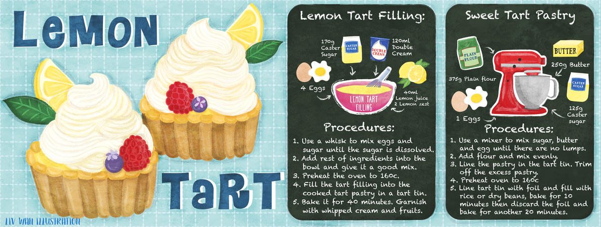 Tdac texture lemon tart illustration