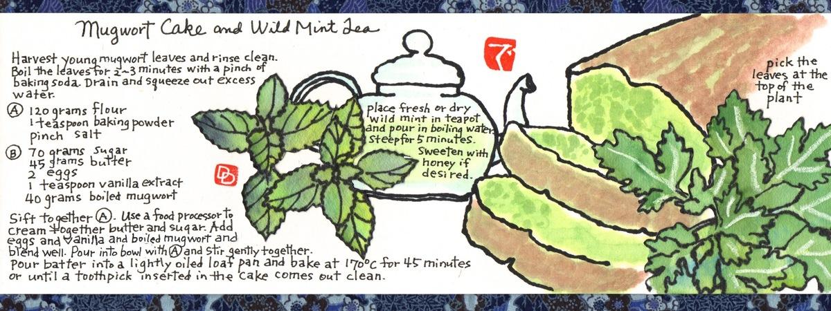 Mugwort Cake and Wild Mint Tea by dosankodebbie - They Draw