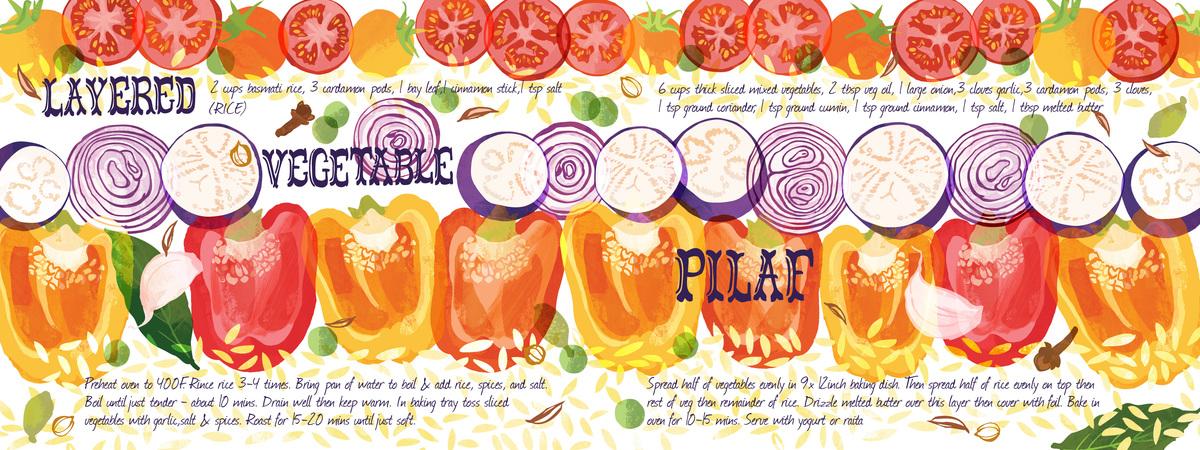 Vegetable pilaf omw