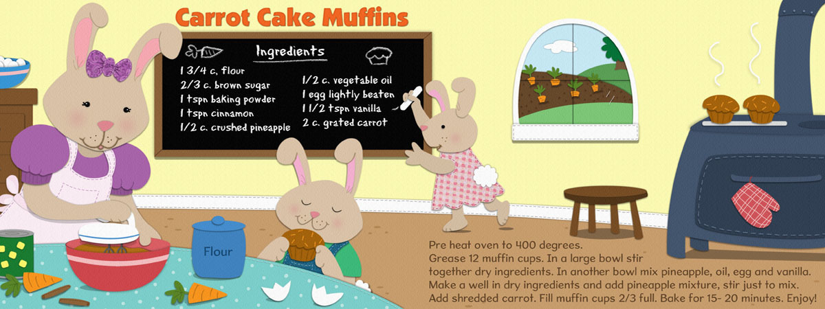 Carrot cake muffins by roz fulcher