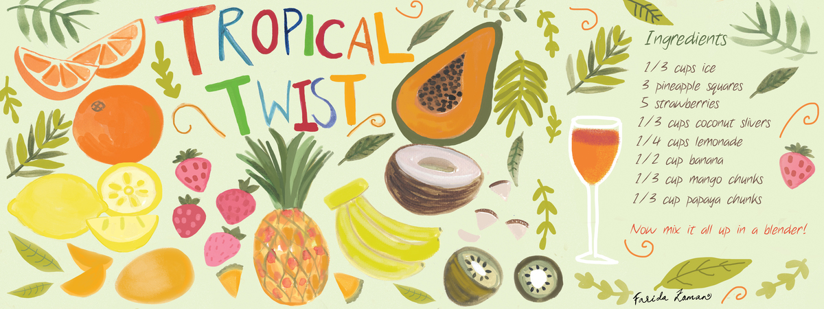 Tropical twist recipi