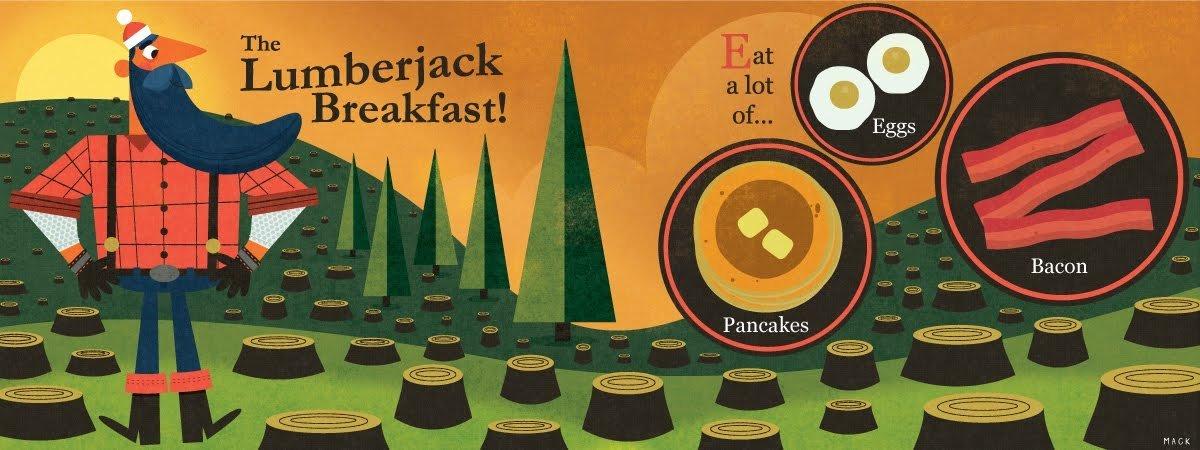 Lumberjack breakfast by steve mack