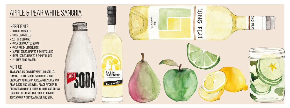 Apple   pear white sangria 01