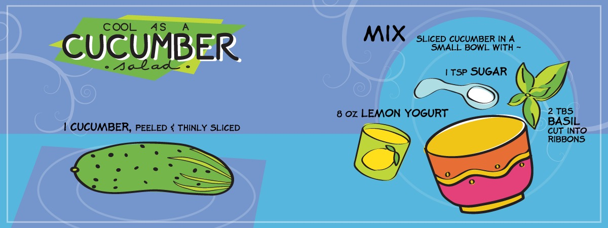 Cucumber salad by sue tincher maib