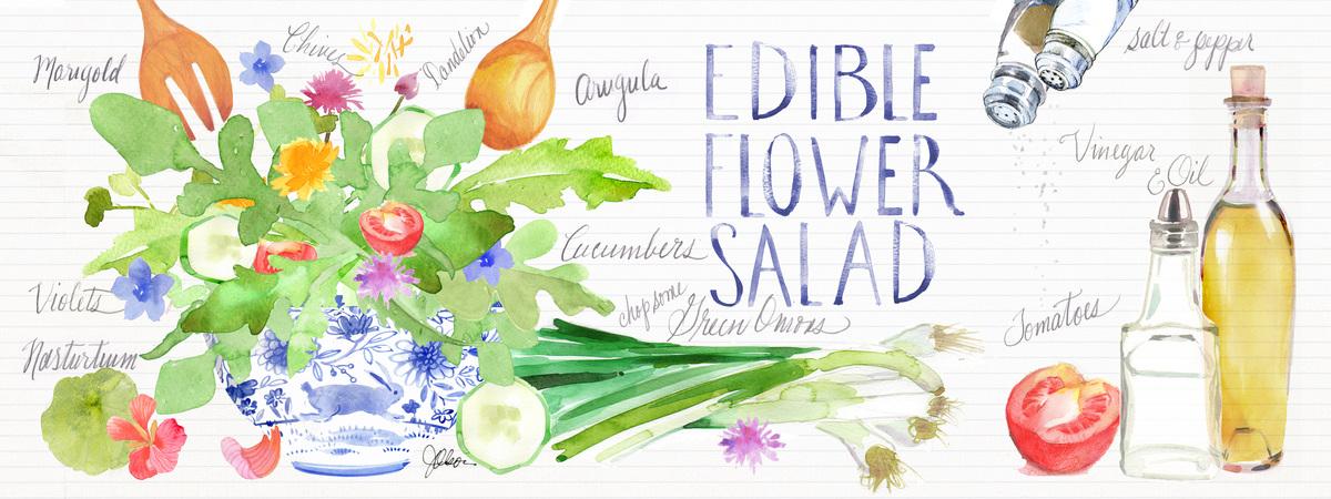 Edibleflowersalad