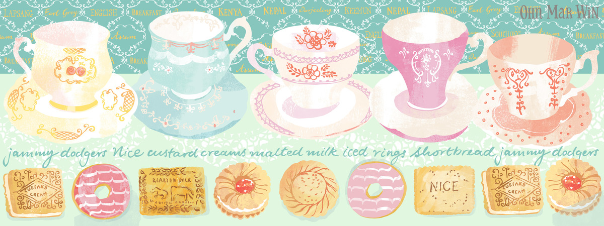 Tea and biscuits pattern ohnmarwin