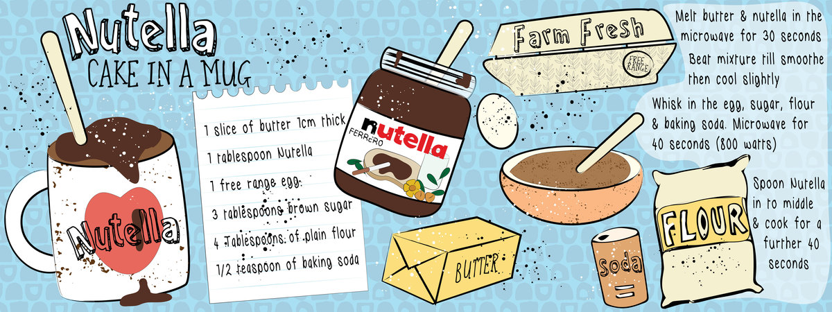 Nutella cake in a cup 01