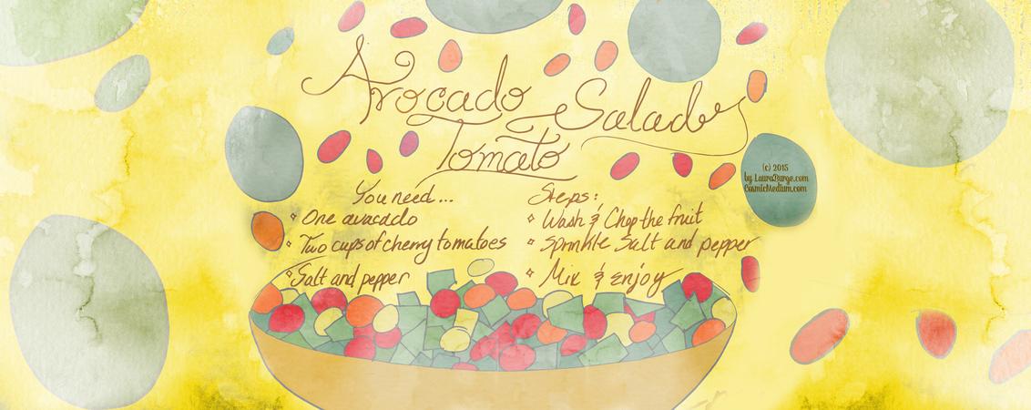 Avocado tomato salad by laura burge