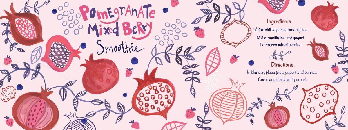 Pomegranate smoothy