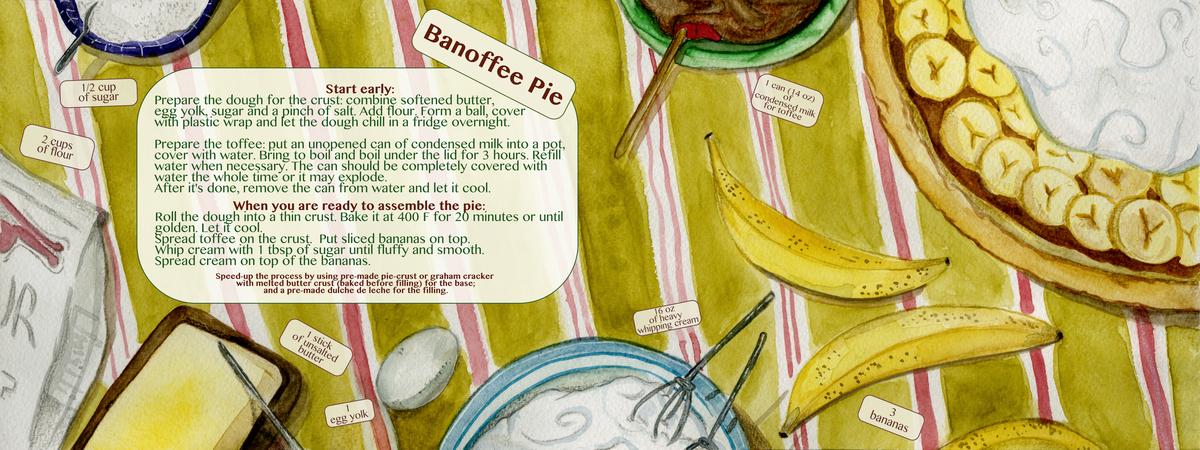 Banofee pie color