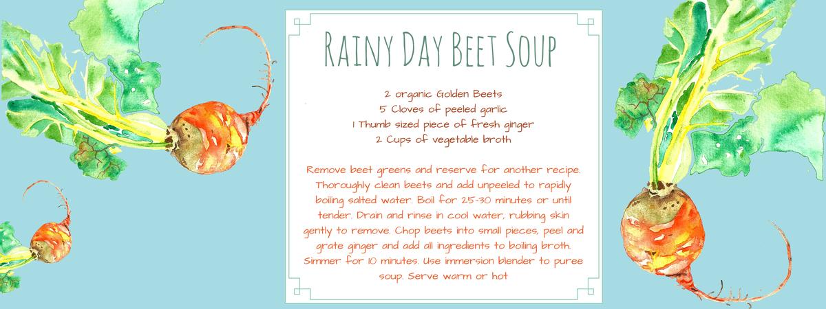 Golden beet soup
