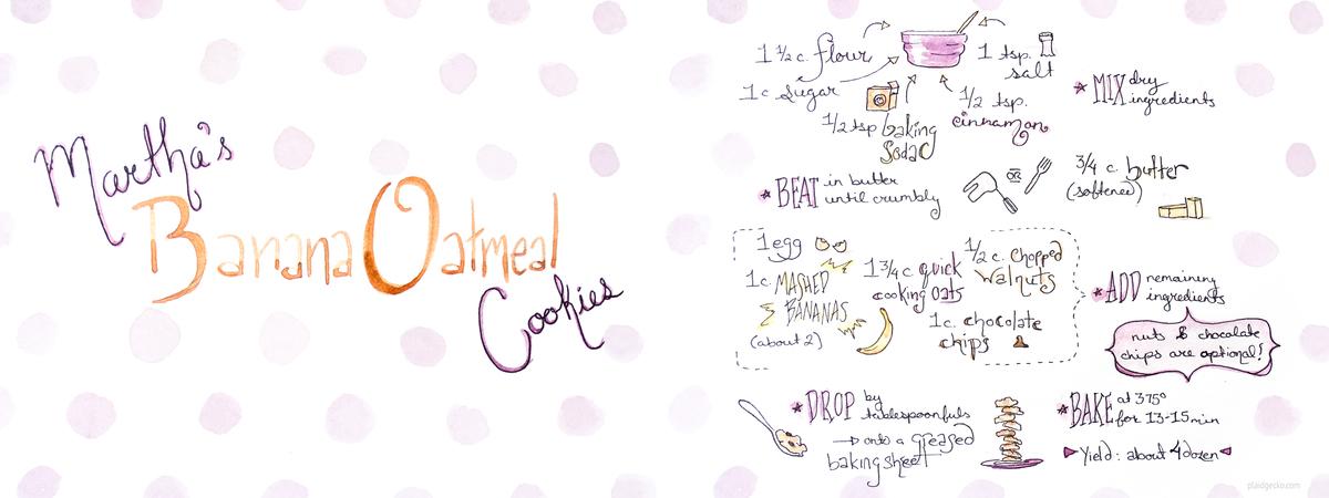 Banana oatmeal cookies plaidgecko