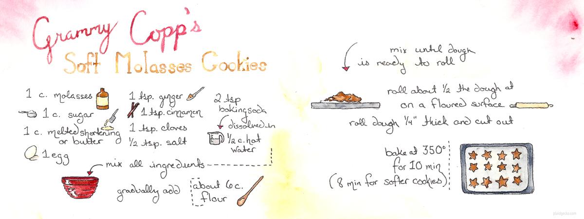 Molasses cookies plaidgecko
