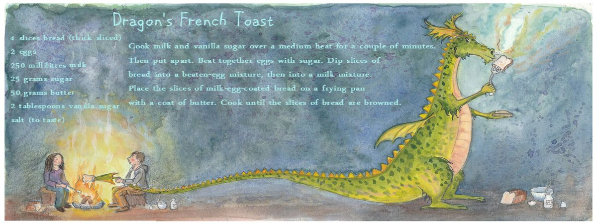 Draw and cook dragon toast susanna redeker