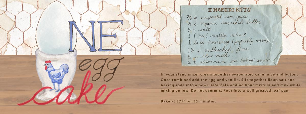 One egg cake