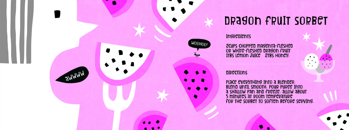 Dragonfruitsorbet
