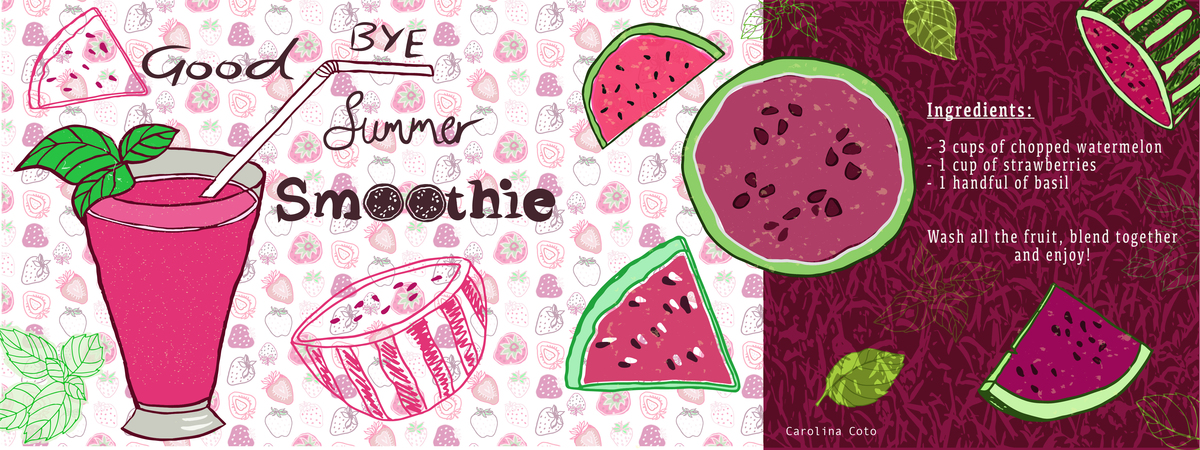 Good bye summer smoothie