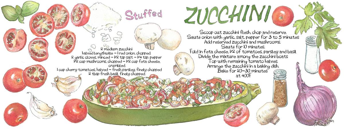 Stuffed zucchini suzanne de nies