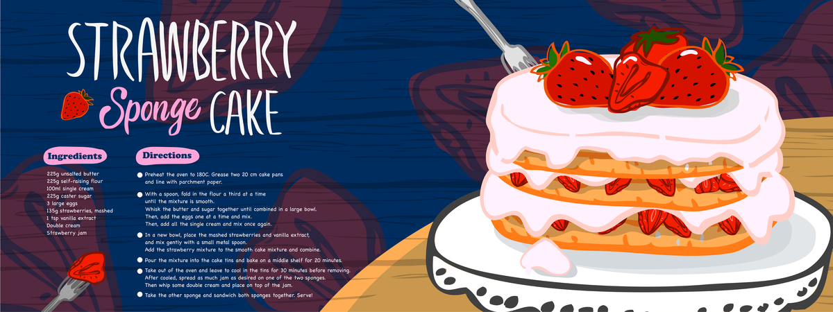 Stawberry cake 01