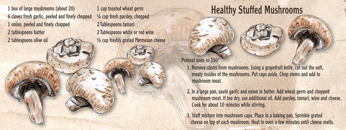 Healthy stuffed mushrooms