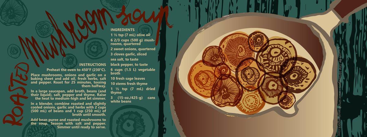 Recipe roasted mushroom soup 01