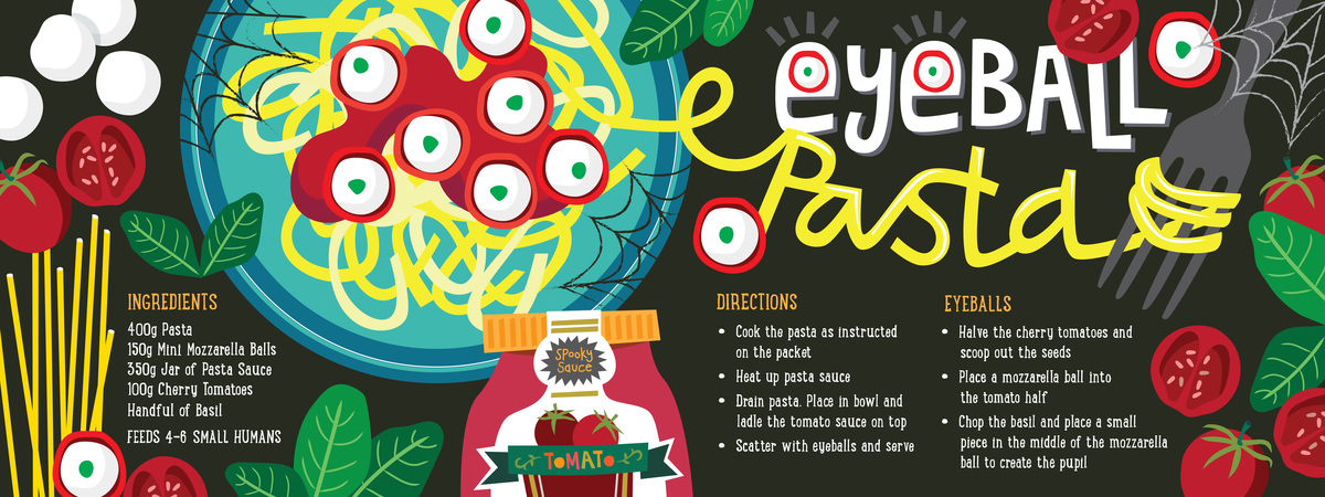 Lisakirkbride eyeball pasta recipe