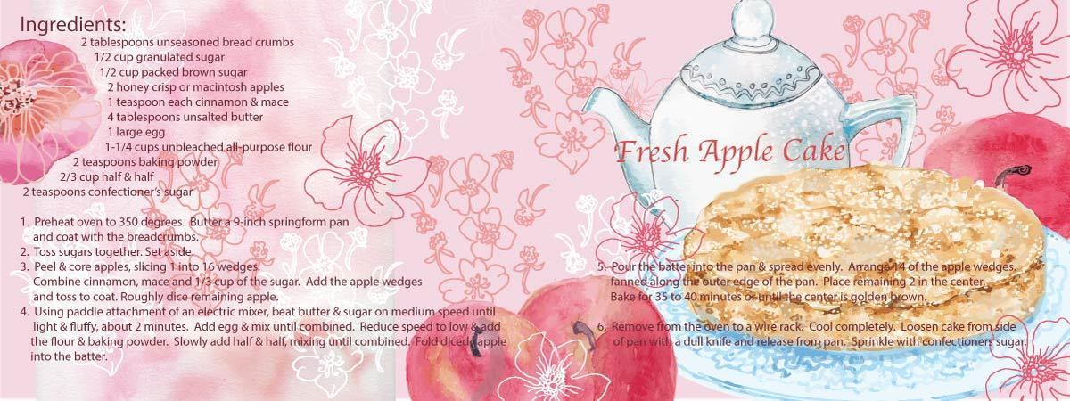 Recipe illustration apple cake 01