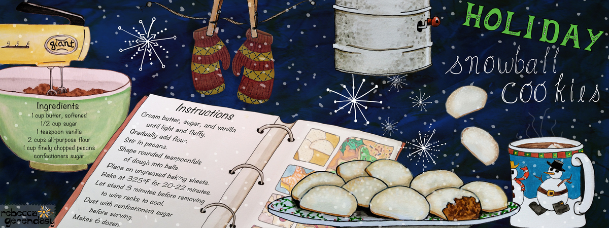 Rebecca gerendasy holiday snowball cookies recipe tdac