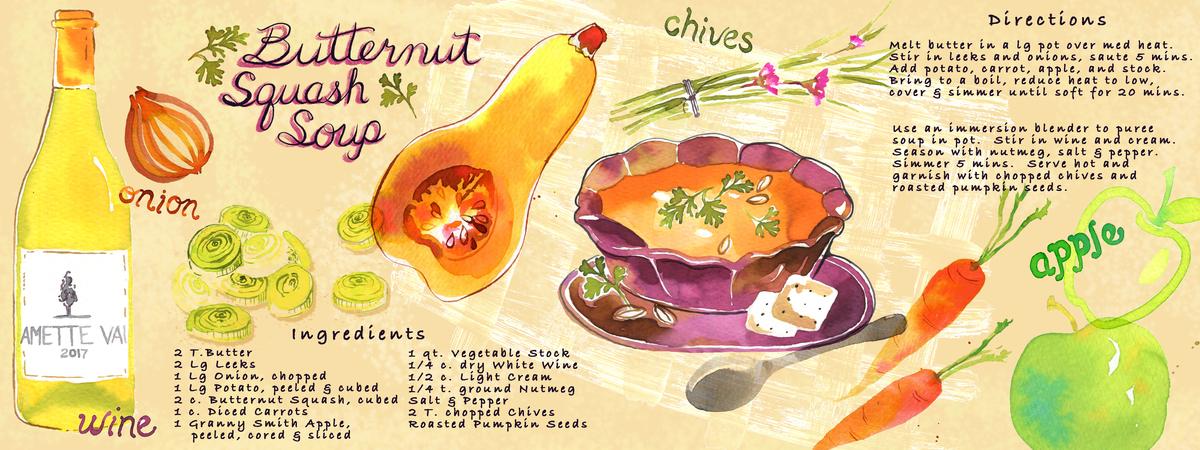 Carol lelivelt butternut soup flat
