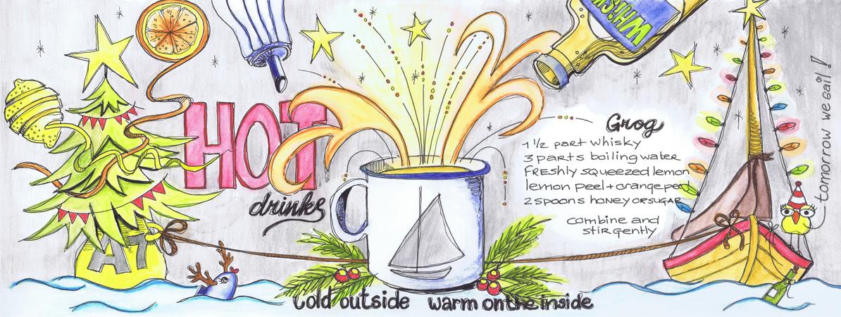 Theydrawandcook layout sailors hot drinks grog angeleernst